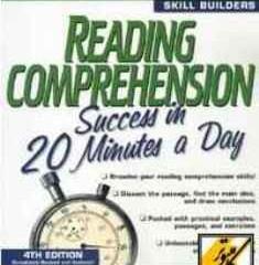 دانلود کتاب Reading Comprehension Success in 20 Minutes a Day