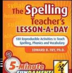 دانلود کتاب The Spelling Teacher's Lesson-a-Day