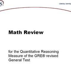 دانلود کتاب GRE math review