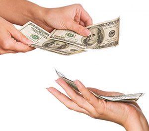 پول دادن به زبان انگلیسی چی میشه؟