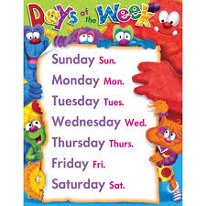 روزهای هفته به انگلیسی با معنی | سراي عالي ترجمهروزهای هفته به انگلیسی با معنی