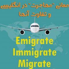 تفاوت emigrate، immigrate، و migrate