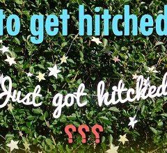 معنی اصطلاح to get hitched و معادل just got hitched
